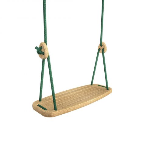 Lillagunga Classic Oak Swing in green :: Indoor Playground :: Baby Bottega