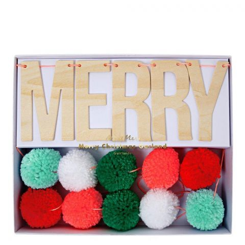 Festive Pompom Garland from Meri Meri :: Baby Bottega