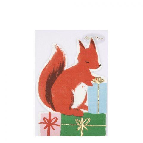 Tovaglioli Woodland Squirrel di Meri Meri :: acquista su Baby Bottega