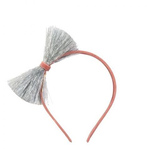 Cerchietto Silver Tinsel Bow di Meri Meri :: acquista su Baby Bottega