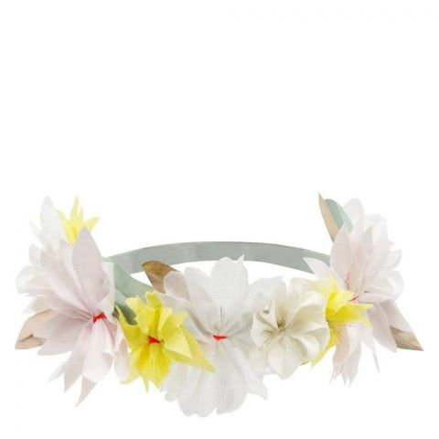 Fabric Blossom Headband in pastel colors from Meri Meri :: Baby Bottega