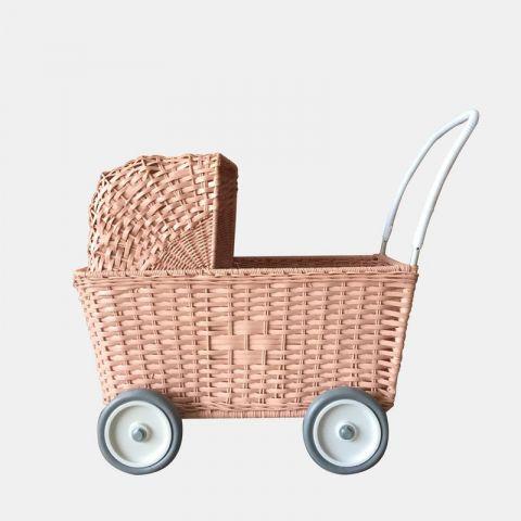 Strolley in rose wicker from Olli ella :: Baby Bottega