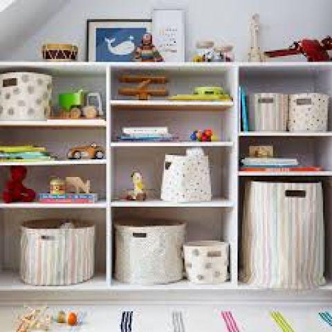 Pompom Marigold Storage Bin from Pehr :: Baby Bottega