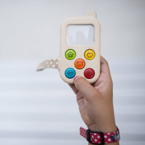 My First Cell Phone, eco-friendly toys from Plan Toys :: Baby Bottega