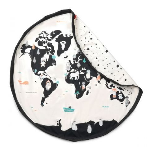World Map & Stars Toy Bag, Play Mat & Storage Place from Play and Go :: Baby Bottega