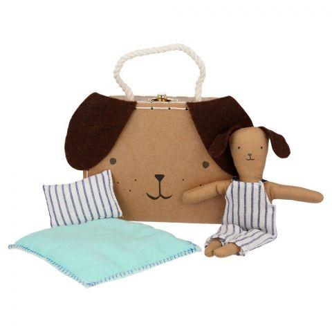Stripy Puppy Mini Suitcase Doll from Meri Meri :: Baby Bottega