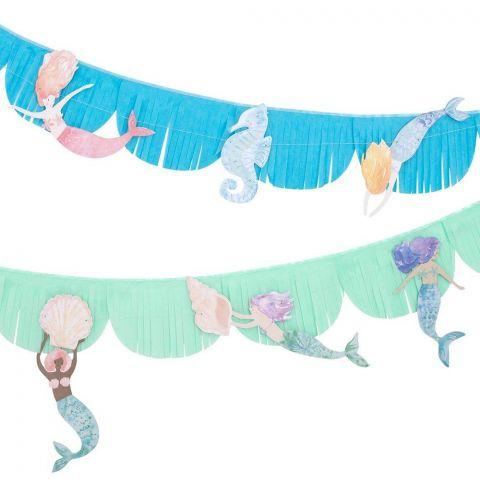 Ghirlanda con frange e sirene di Meri Meri :: acquista ora su Baby Bottega