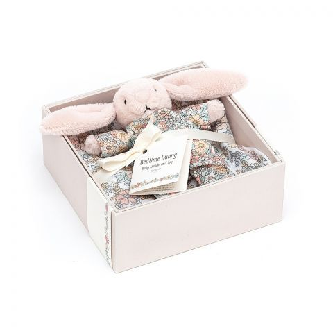 Bedtime Blossom Bunny Gift Set from Jellycat soft toys :: Buy at Baby Bottega