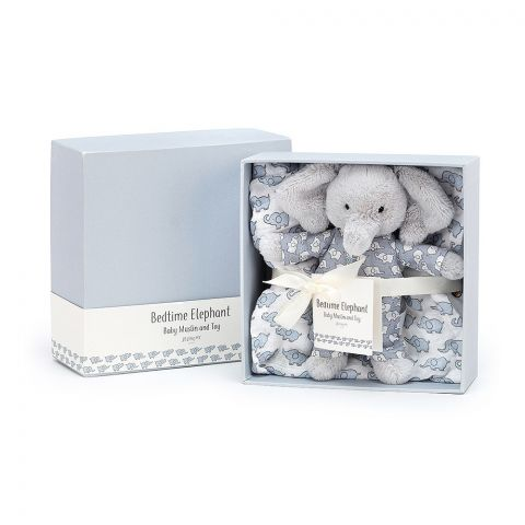 Bedtime Elephant Gift Set from Jellycat soft toys :: Buy at Baby Bottega