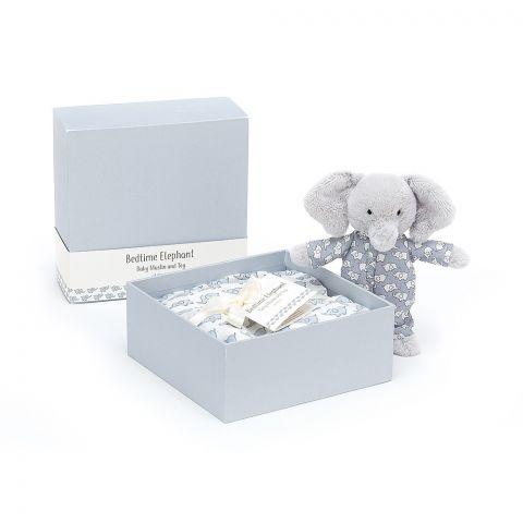 Bedtime Elephant Gift Set from Jellycat soft toys :: Buy at Baby Bottega