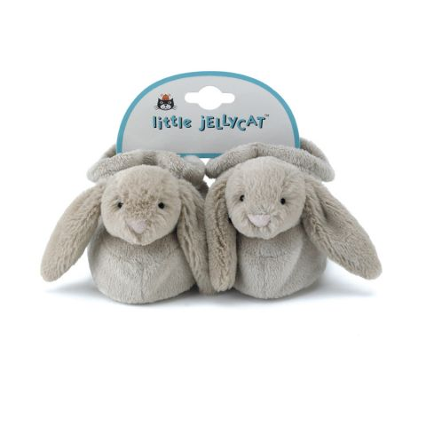 Bashful Beige Bunny Booties from Jellycat :: Baby Bottega