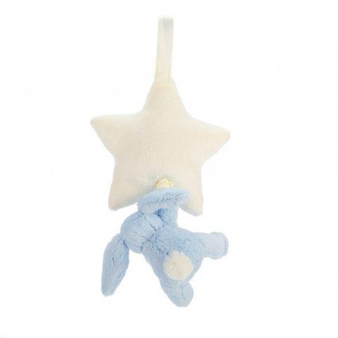 Bashful Blue Bunny Star Musical Pull from Jellycat :: Baby Bottega