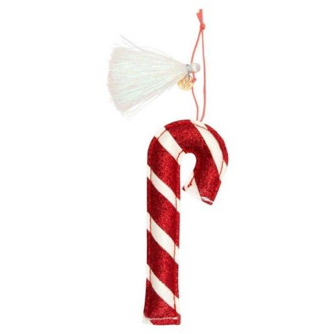 Candy Cane Glitter Tree Decoration from Meri Meri Holiday Christmas Collection