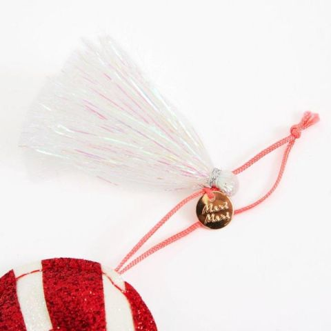 Candy Cane Glitter Tree Decoration from Meri Meri