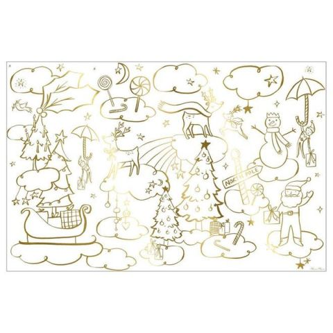 Christmas Colouring Posters from the Meri Meri Holiday Christmas Collection
