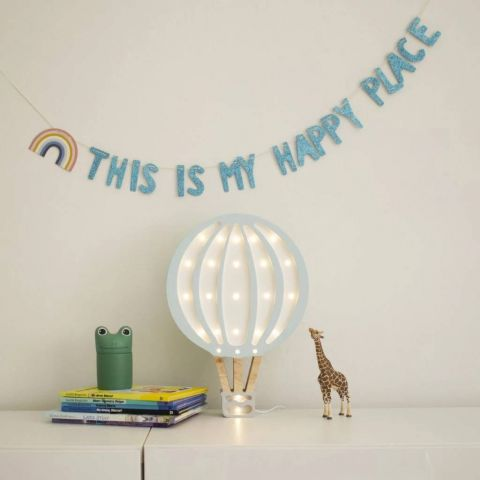 Hot Air Balloon Lamp, Blue Sky from Little Lights :: Buy at Baby Bottega