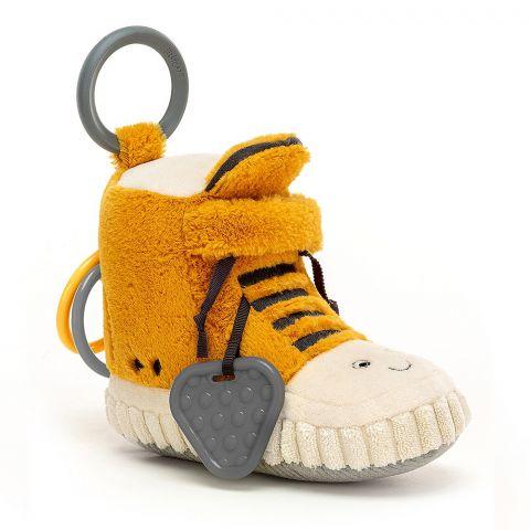 Kicketty Sneaker Activity Toy di Jellycat :: acquista ora su Baby Bottega