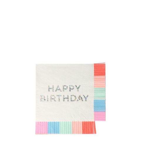 Birthday Fringe Small Napkins from Meri Meri :: Baby Bottega
