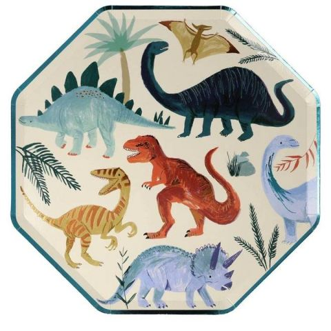 Dinosaur Kingdom Dinner Plates from Meri Meri :: Baby Bottega