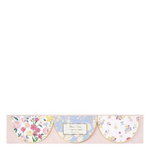 English Garden Scallop Garland from Meri Meri :: Baby Bottega Party Supplies