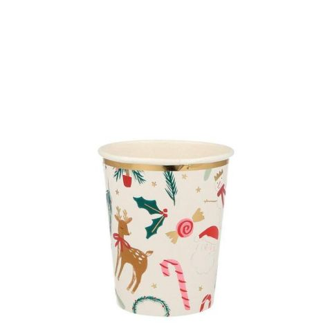 Festive Motif Cups from Meri Meri Holiday Christmas Collection :: Available at Baby Bottega