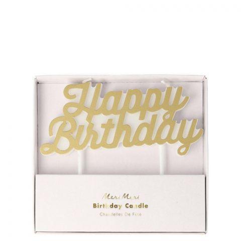 Candela Gold Happy Birthday di Meri Meri :: Baby Bottega