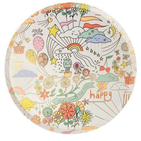 Happy Doodle Dinner Plates from Meri Meri :: Baby Bottega