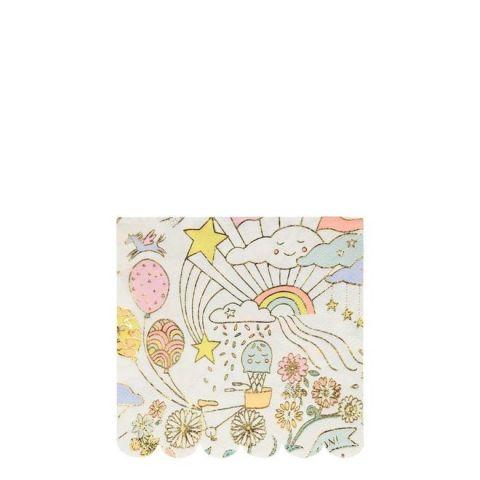 Happy Doodle Small Napkins from Meri Meri :: Baby Bottega