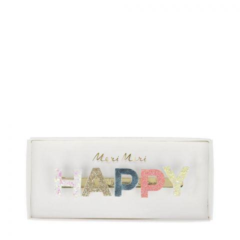 Happy Glitter Hair Clip from Meri Meri :: Baby Bottega