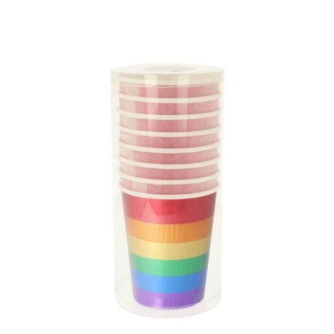 Rainbow Fringe Party Cups from Meri Meri :: Baby Bottega