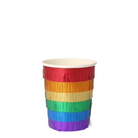 Rainbow Fringe Bicchieri di Meri Meri :: Baby Bottega