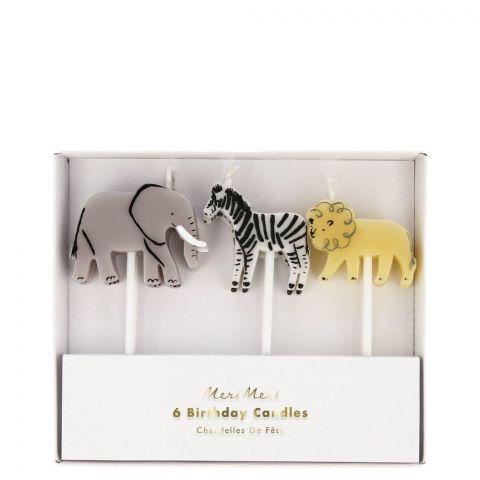 Safari Animal Candles from Meri Meri :: Baby Bottega