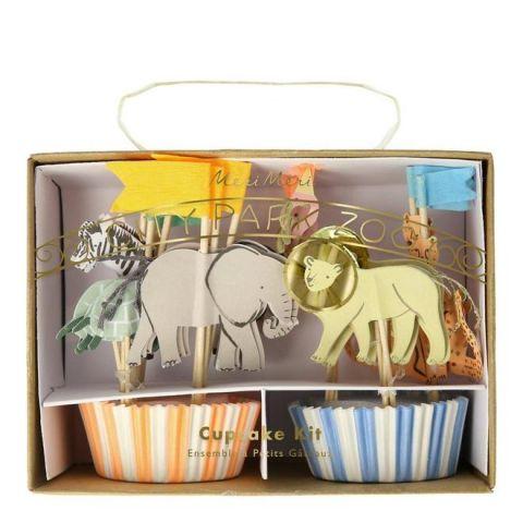 Safari Animals Cupcake Kit from Meri Meri :: Baby Bottega Party Supplies