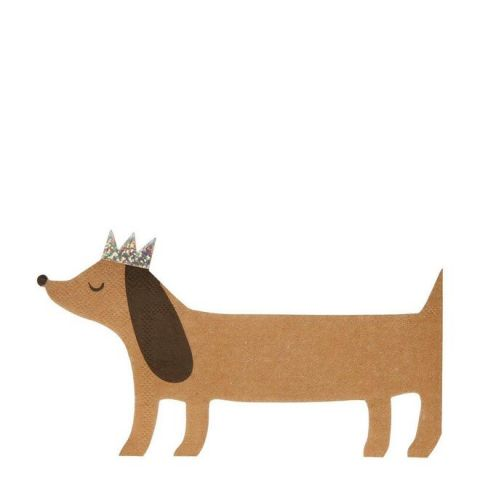 Sausage Dog Lg Napkins from Meri Meri :: Available at Baby Bottega