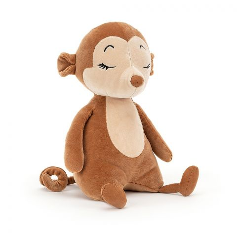 Sleepee Monkey, a soft toy for newborns, from Jellycat :: Baby Bottega
