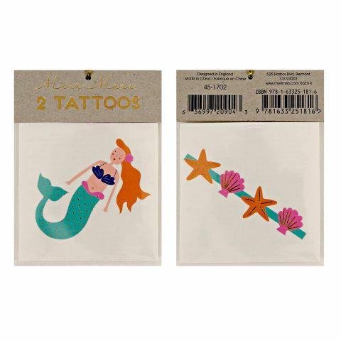Tatuaggi Sirenetta e Conchiglia :: Meri Meri