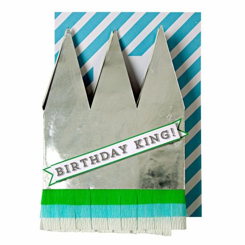 Birthday King Crown Card