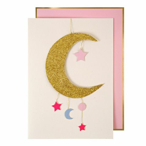 Baby Girl Mobile Greeting Card from Meri Meri :: Baby Bottega