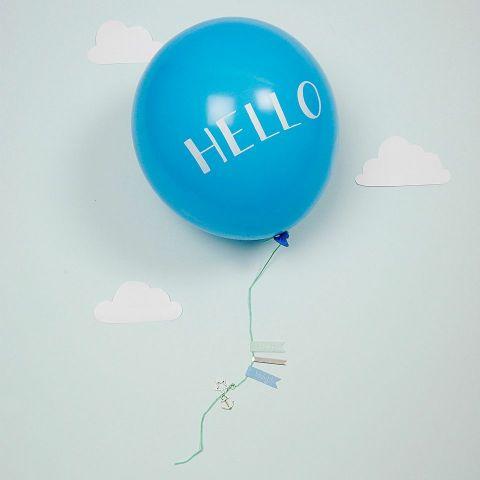 Hello Baby Boy Balloon Greeting Card