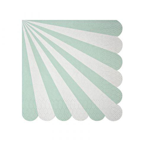 Toot Sweet Acqua Stripe Small Napkin from Meri Meri :: Baby Bottega