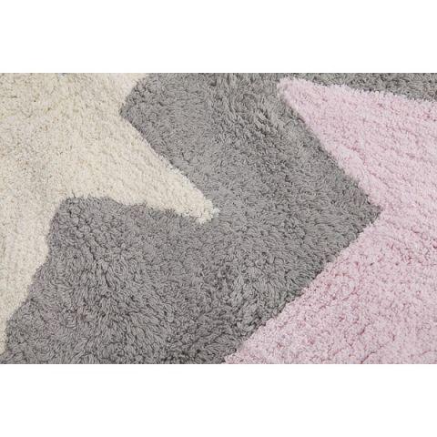 Three Star Rug Grey Pink