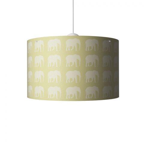 Elephants Hanging Lamp Mustard