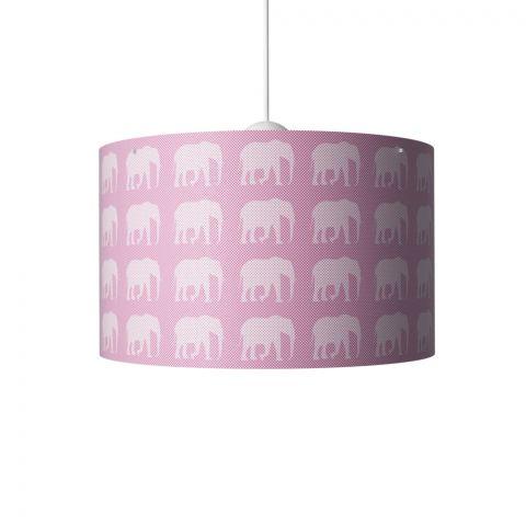 Elephants Hanging Lamp Pink