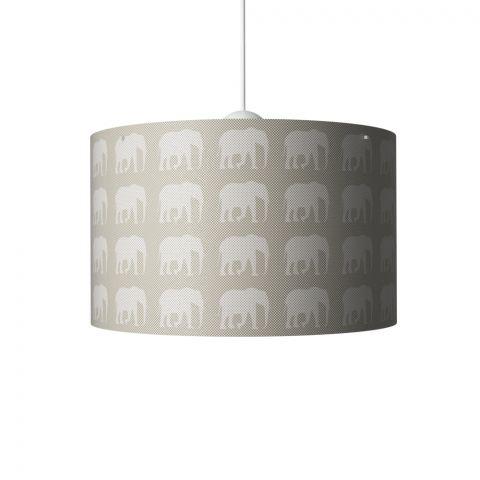 Elephants Hanging Lamp Grey