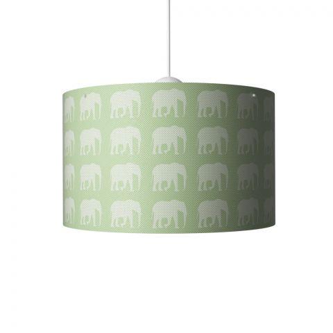 Elephants Hanging Lamp Green