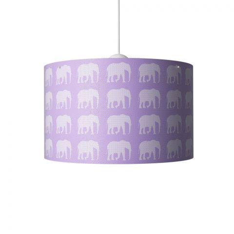 Elephants Hanging Lamp Violet