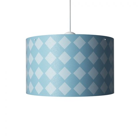 Diamonds Hanging Lamp Blue