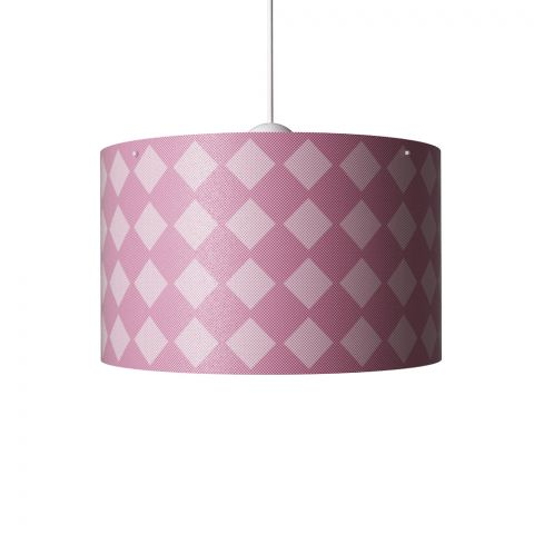 Diamonds Hanging Lamp Pink