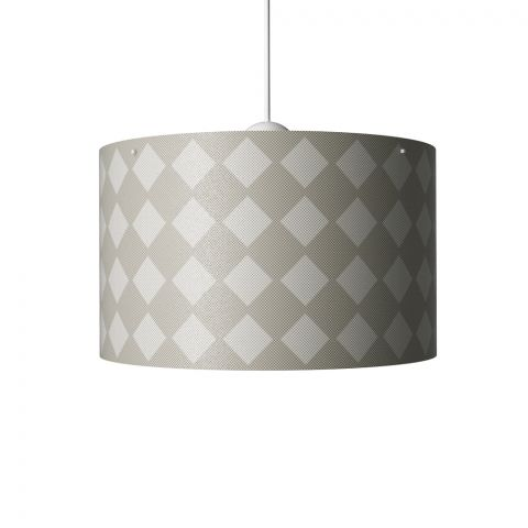 Diamonds Hanging Lamp Grey