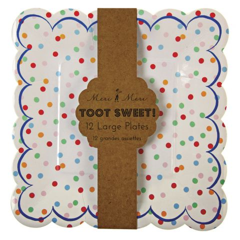Toot Sweet Large Spotty Plates